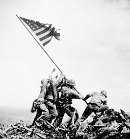 a pic of flag raisign at iwo jima