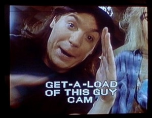 Mike Myers as Wayne from Wayne's World, classic SNL and 2nd -city bit.