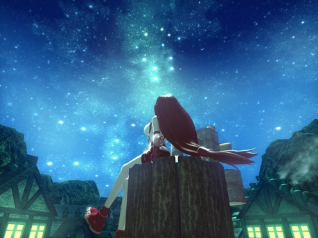 Tifa look to the starry night....