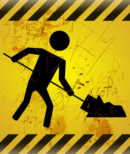 """there is no legitimate """"caution"""" but a MAN is WORKING; hence the notification."""