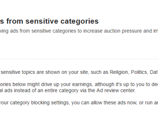 """from inside our Google Adsense """"optimization"""" notice (optimizing ads of course....)"""